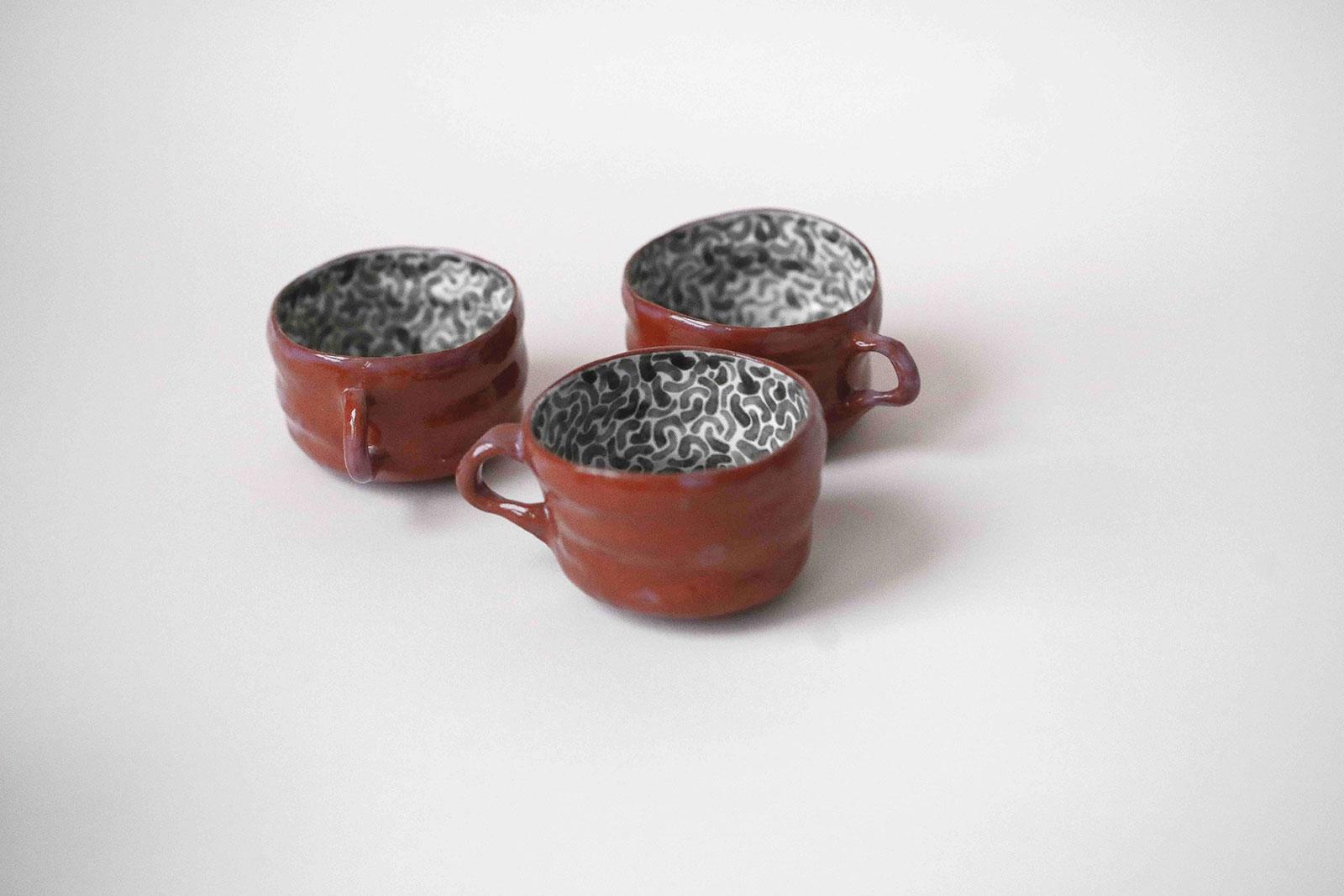 Декоративные чашки из керамики - Коллекция «Дежавю №2» (Ручная работа)