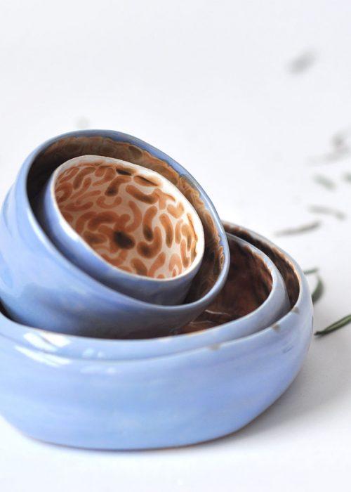 Декоративные керамические тарелки и пиалы - Коллекция «Дежавю» (Ручная работа)