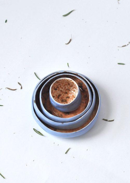 Декоративные керамические пиалы и соусники - Коллекция «Дежавю» (Ручная работа)