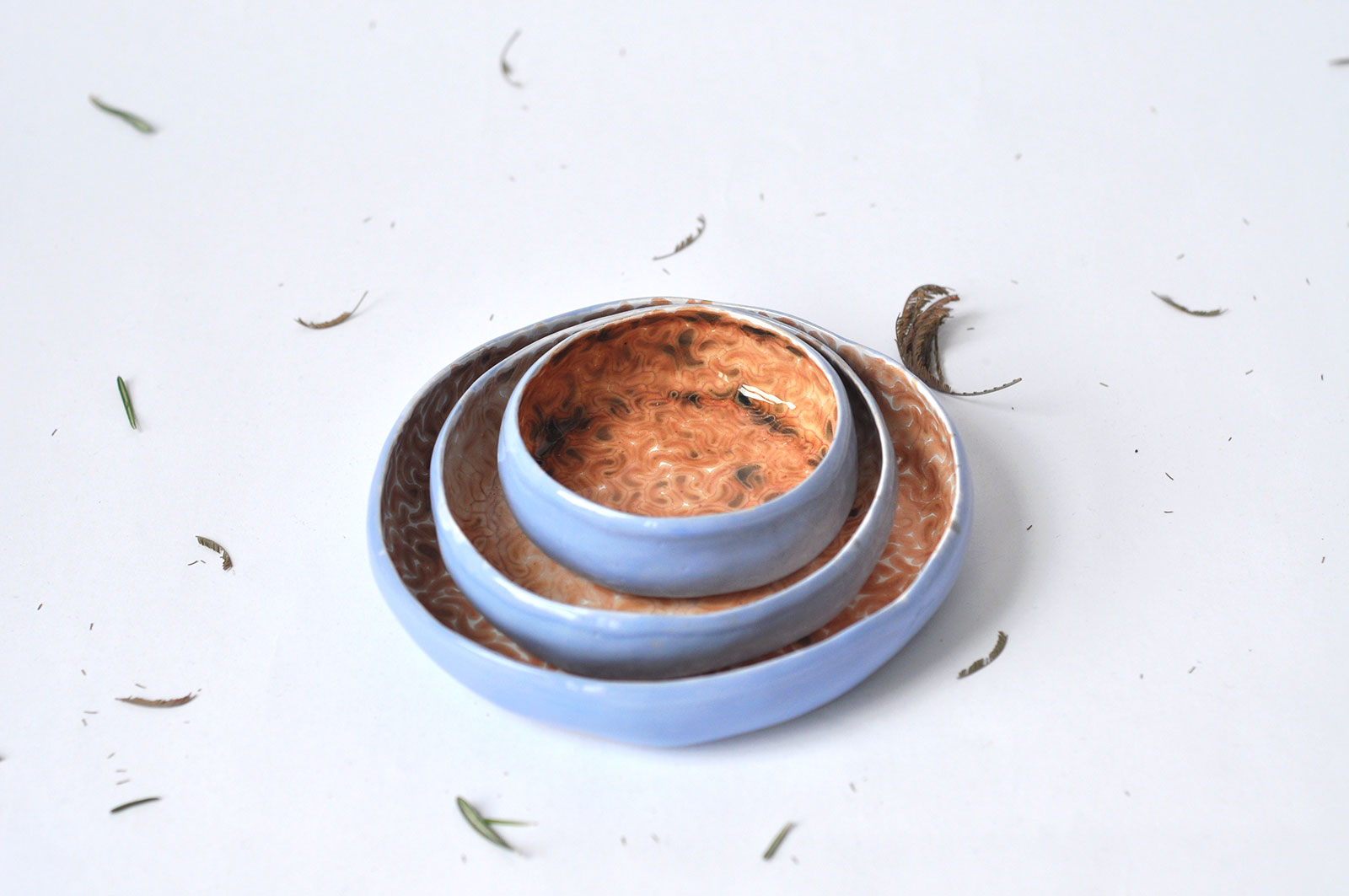 Декоративные керамические тарелки - Коллекция «Дежавю» (Ручная работа)