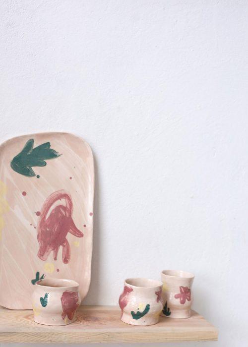 Декоративные стаканы из керамики - Набор «Непринужденность №2» (Ручная работа)