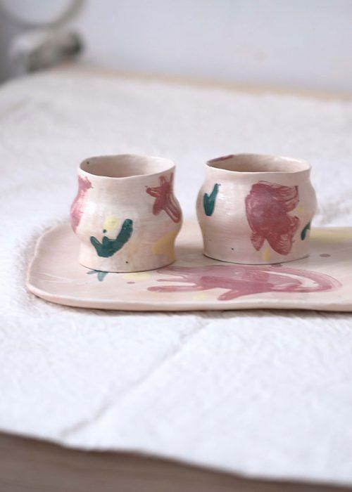 Декоративный набор посуды «Непринужденность №2» (Художественная керамика)