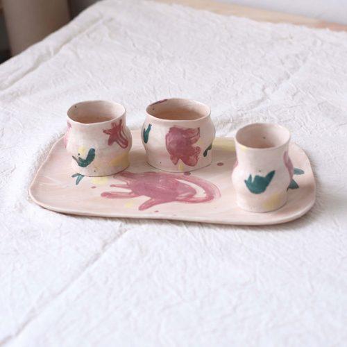 Стаканы и тарелка из набора «Непринужденность №2»