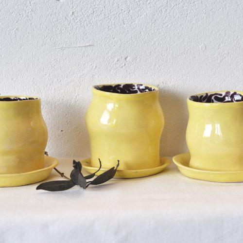 Стаканы с блюдцем из набора «Лимоновый пирог»