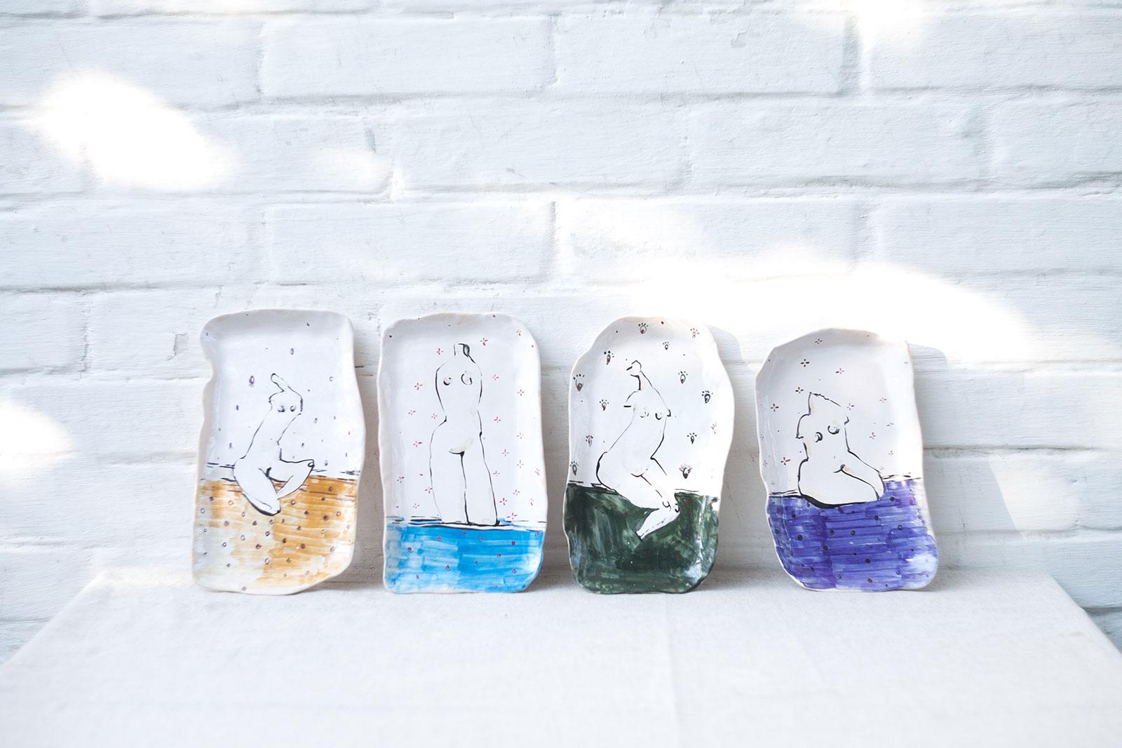 Серия декоративной посуды «Обнаженные» (Художественная керамика)