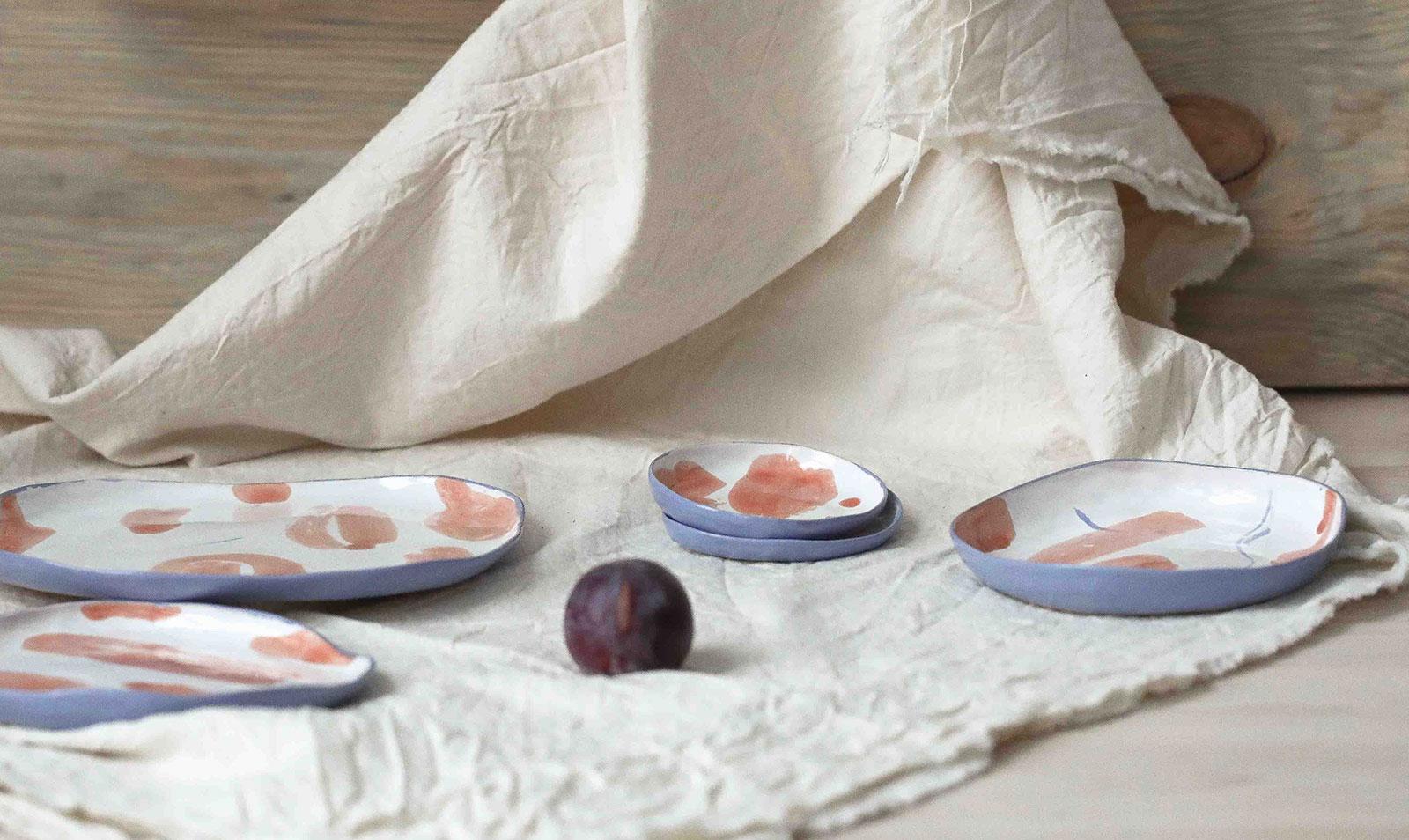Серия декоративных тарелок «Апельсины» (Художественная керамика)