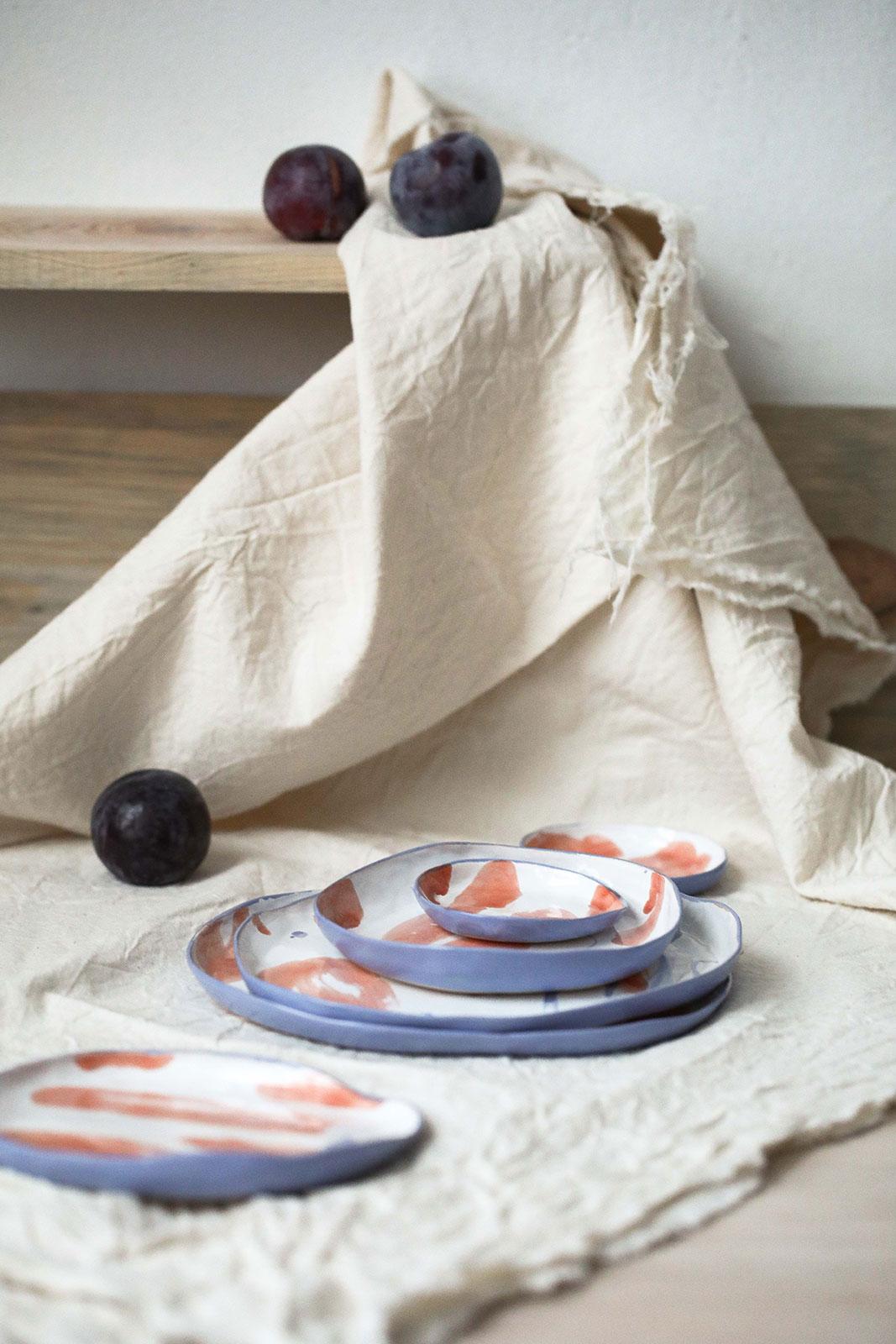 Декоративные керамические тарелки - Серия «Апельсины» (Ручная работа)