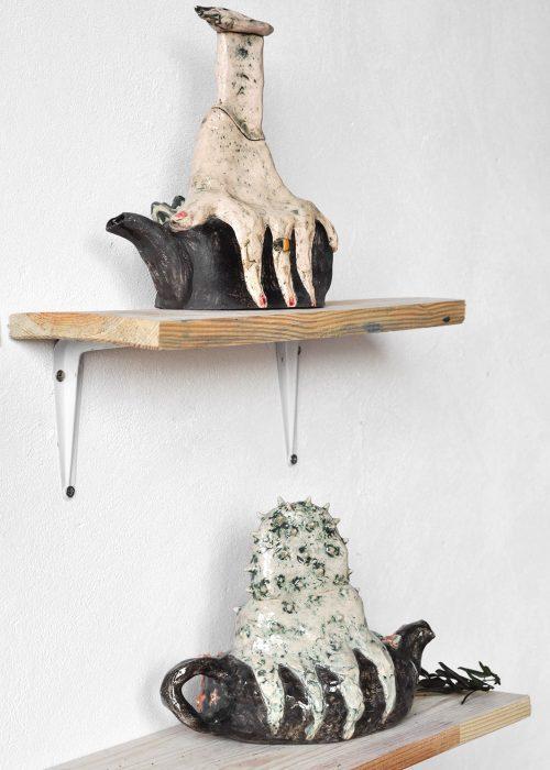 Декоративные чайники из керамики - Серия «Присутствие» (Ручная работа)