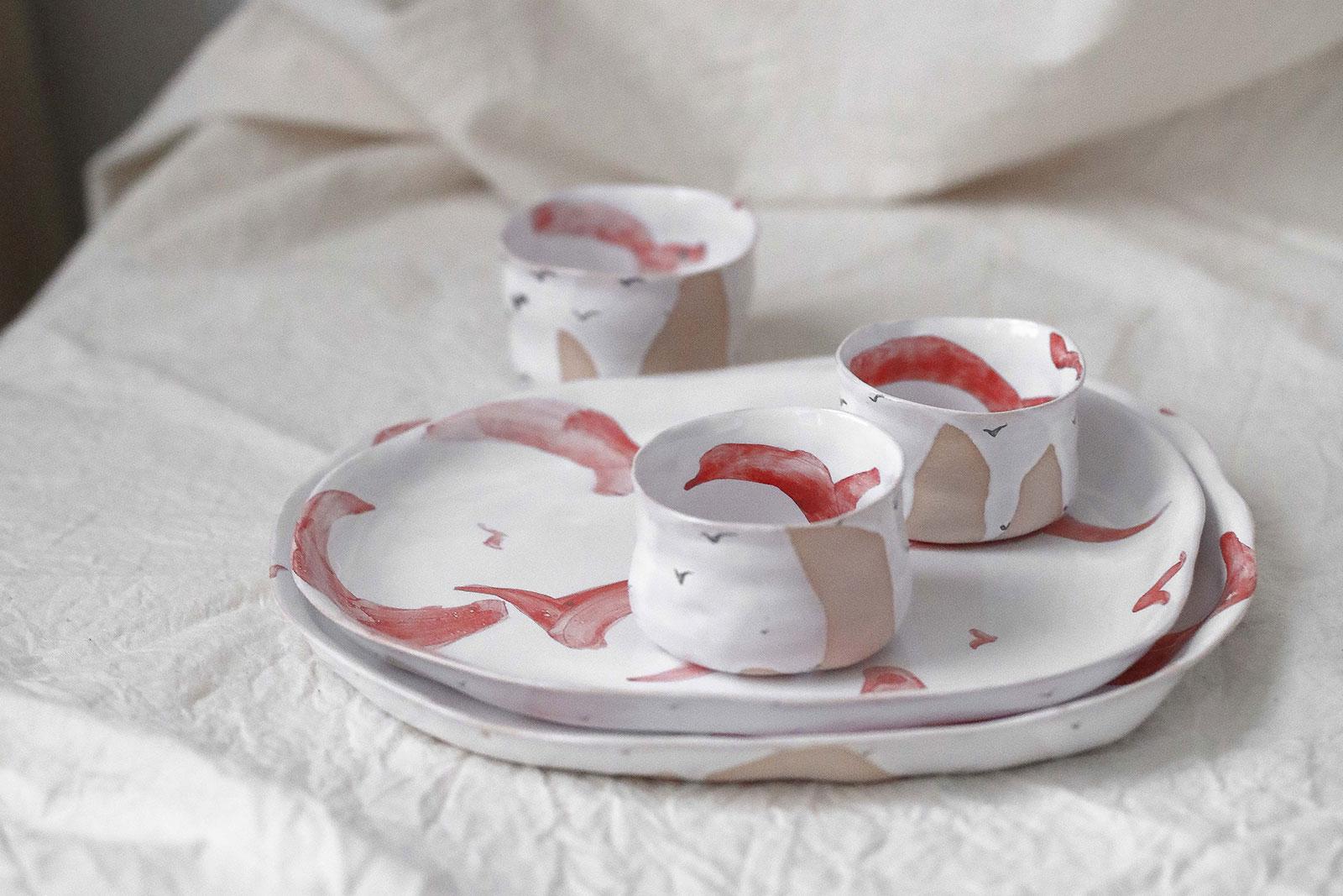 Коллекция декоративной посуды «Чайки» (Художественная керамика)