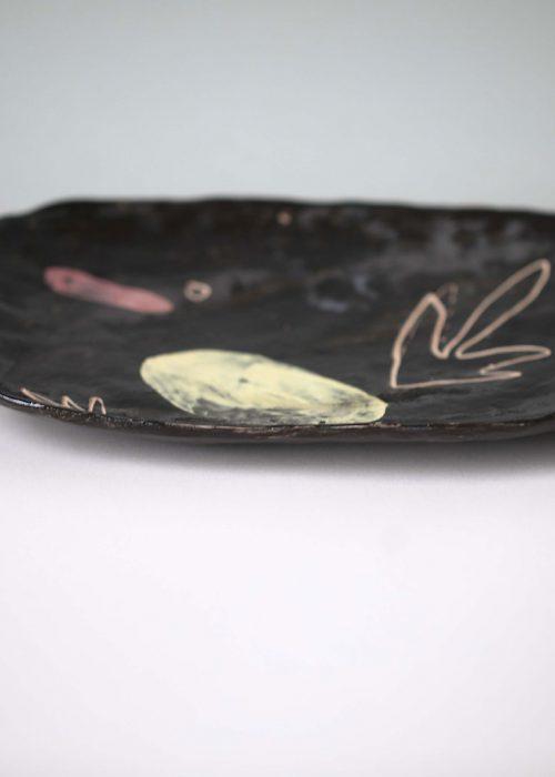 Декоративная тарелка из керамики - Набор «Непринужденность» (Ручная работа)