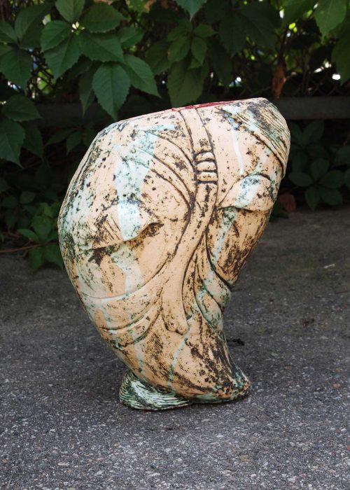 Декоративная ваза из керамики - Серия «Образ» (Ручная работа)
