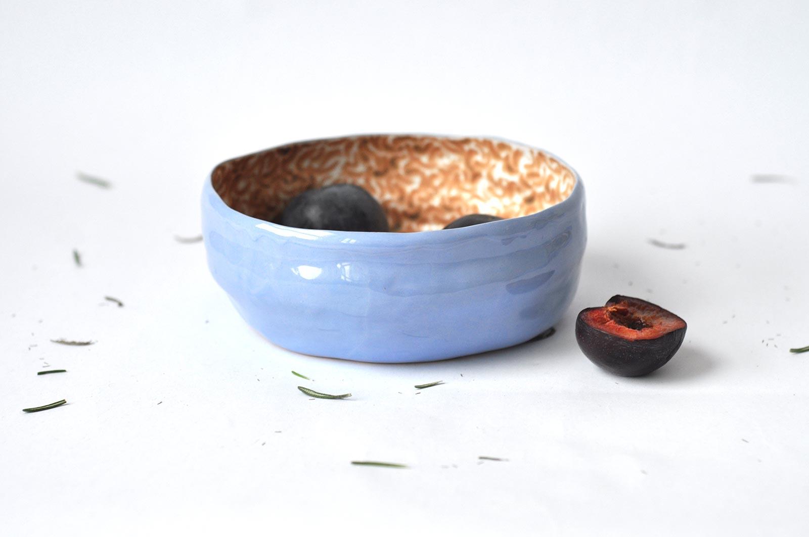 Большая керамическая тарелка (Ручная работа)