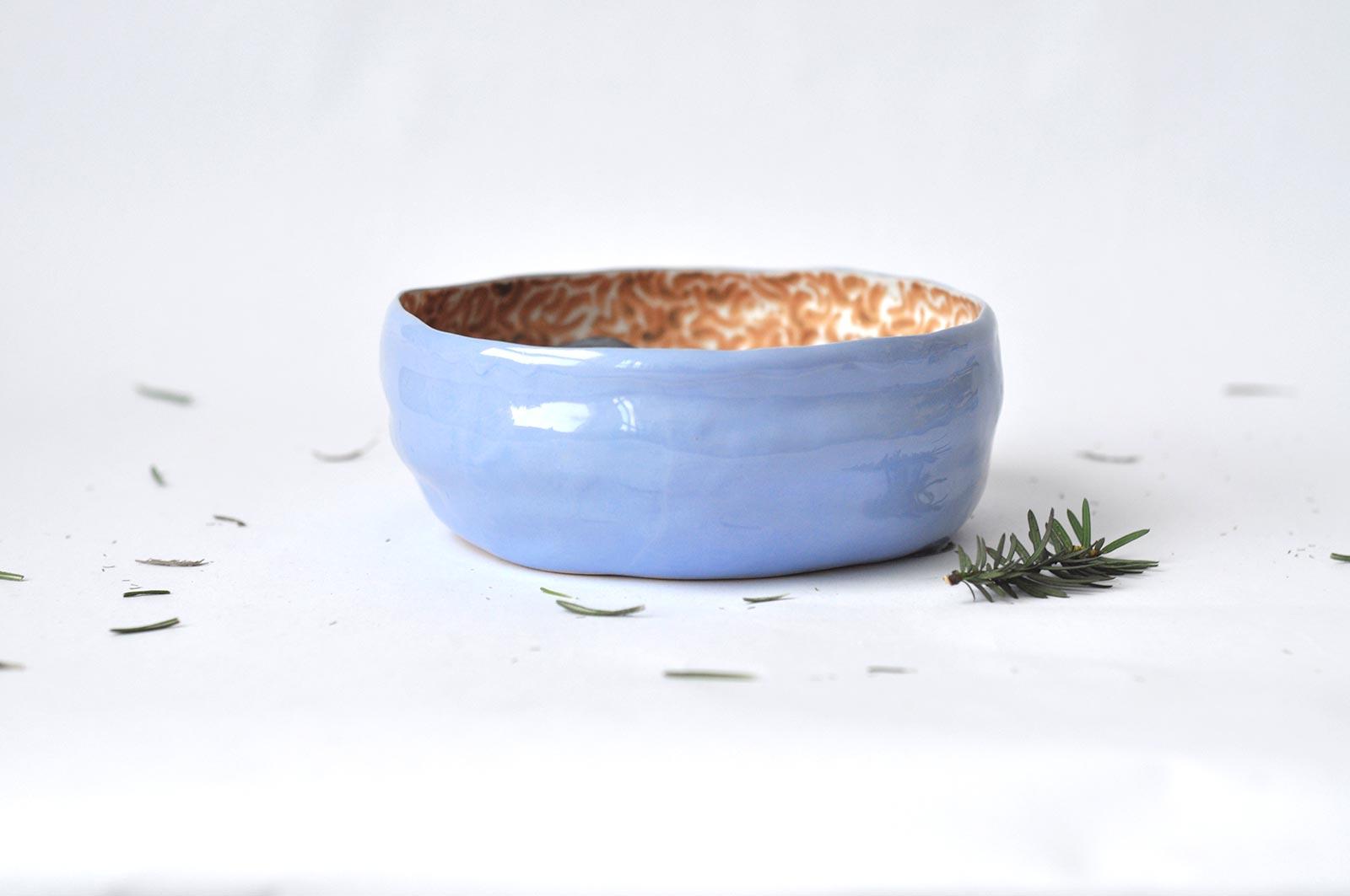 Вид сбоку - Большая керамическая тарелка (Ручная работа)