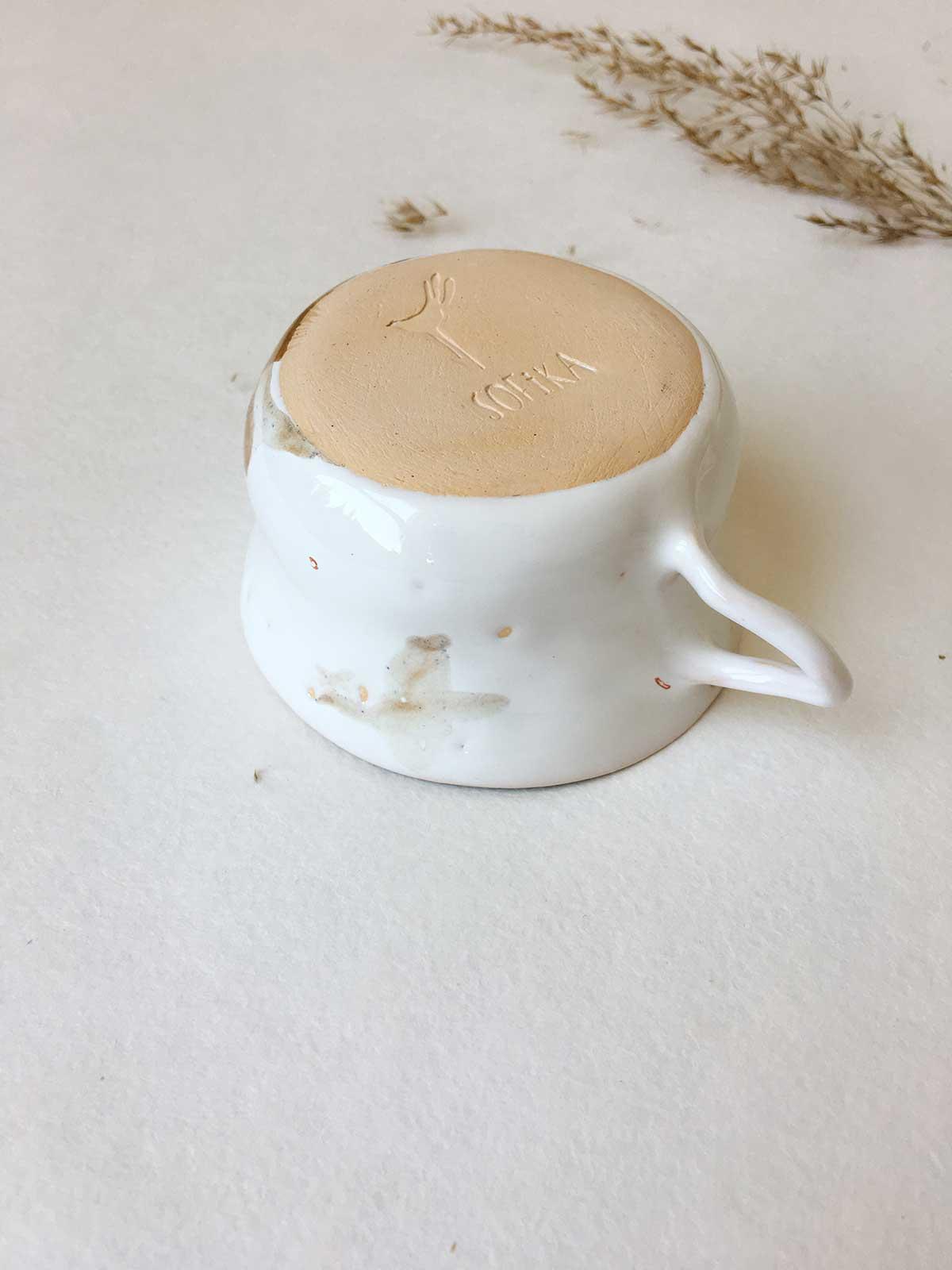Вид сзади - Чайная чашка (Ручная работа)