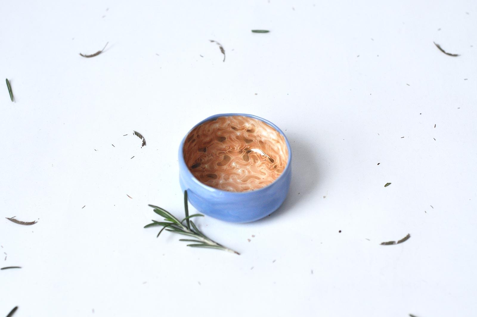 Вид спереди - Керамическая пиала (Ручная работа)