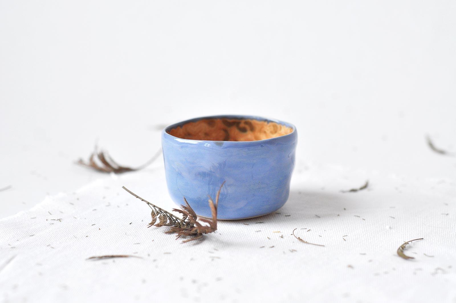 Вид сбоку - Небольшая пиала из керамики (Ручная работа)