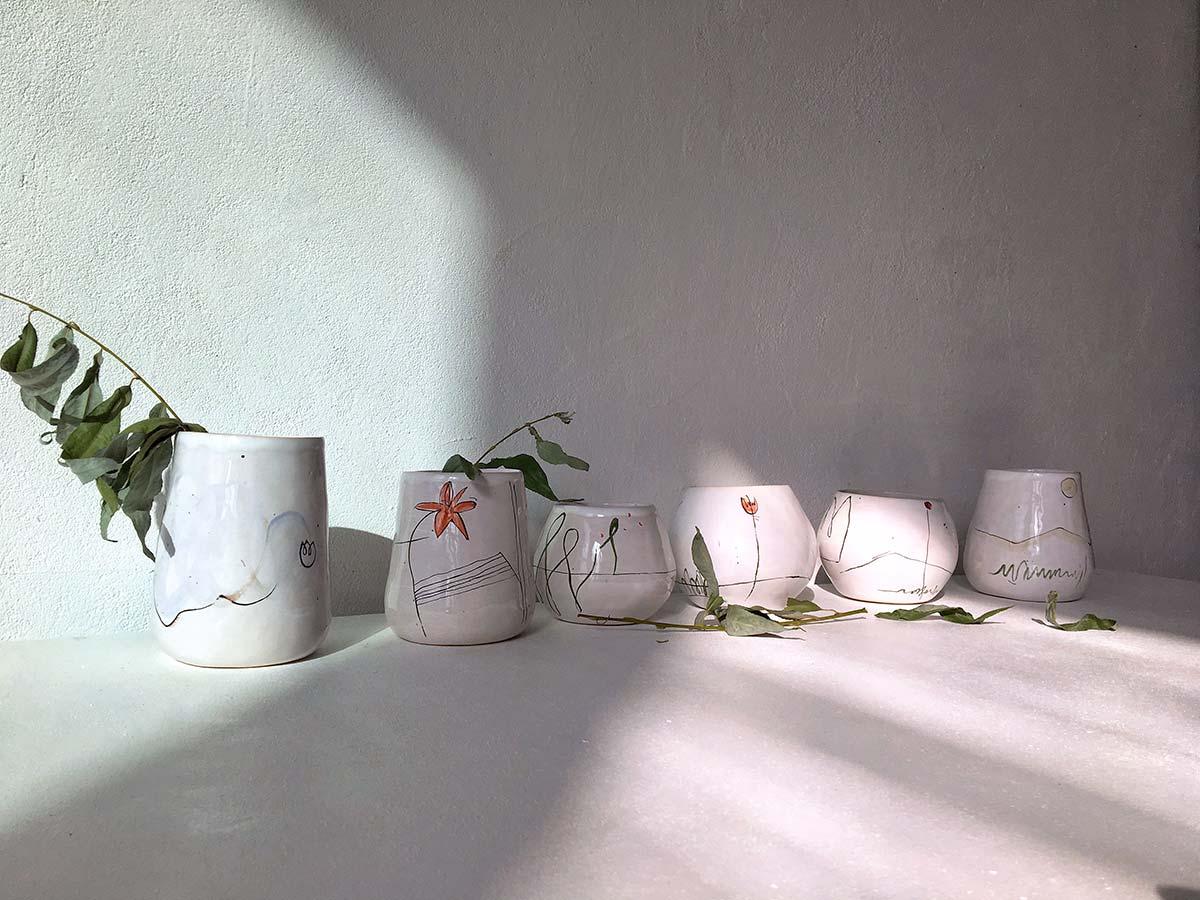 Керамические стаканы из коллекции «О лете»