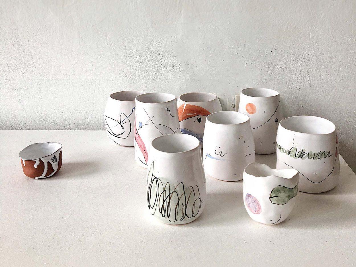 Керамические стаканы из коллекции «О лете» - Ручная работа