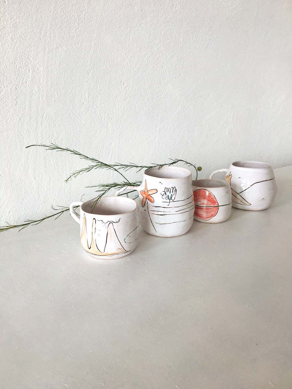 Керамические чашки из коллекции «О лете» - Ручная работа
