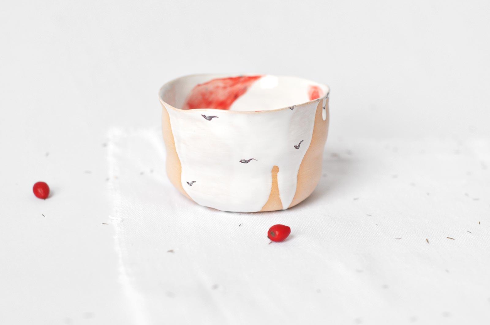 Вид сбоку - Маленькая пиала из керамики (Ручная работа)