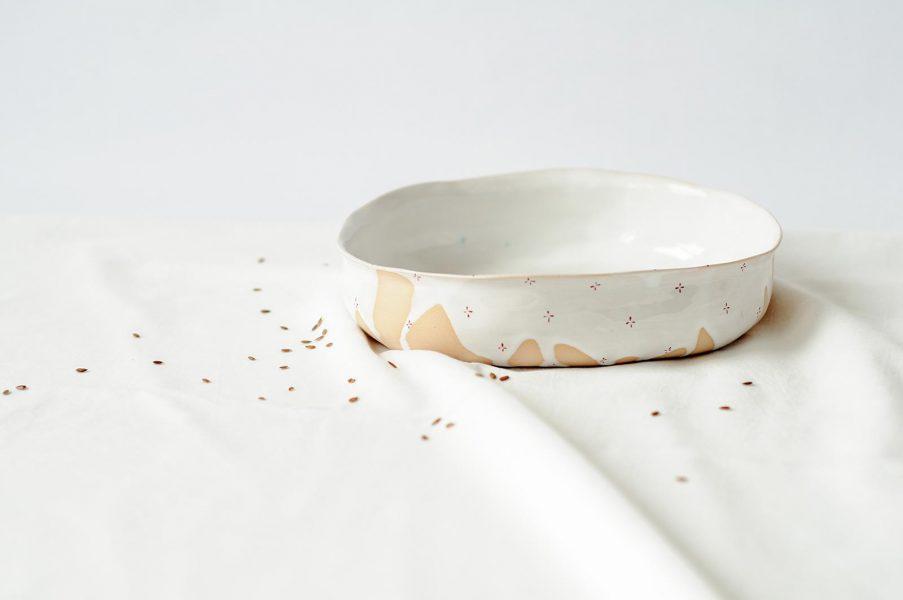 Глубокие тарелки - коллекция «Цветы с молоком»