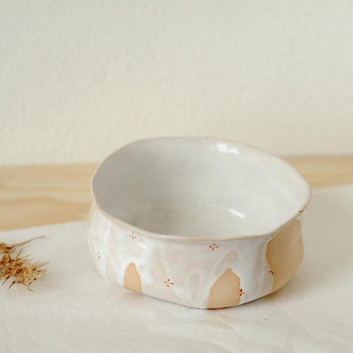 Вид сбоку - Маленькая глубокая тарелка из керамики (Ручная работа)