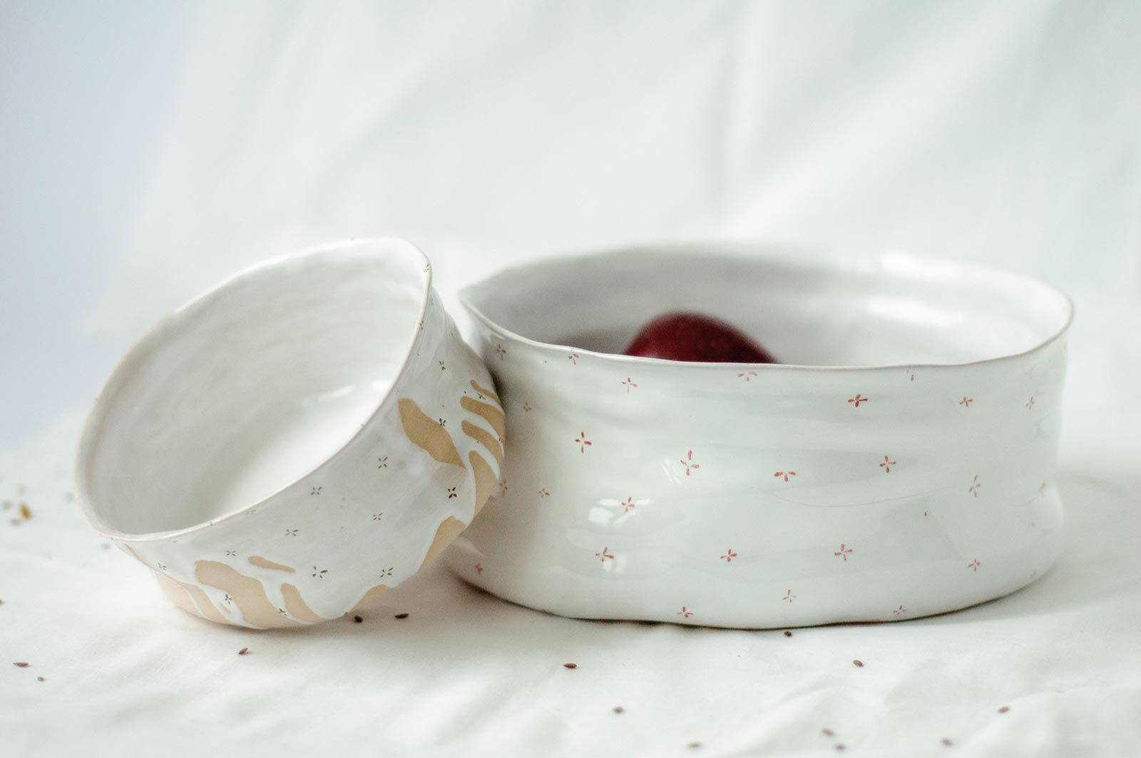 Декор - Большая глубокая тарелка из керамики