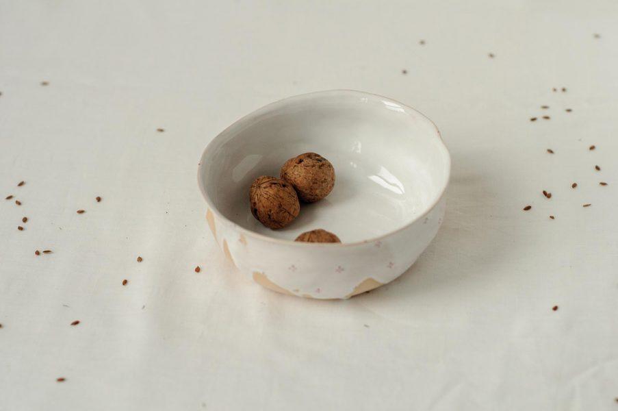 Маленькие тарелки - коллекция «Цветы с молоком»