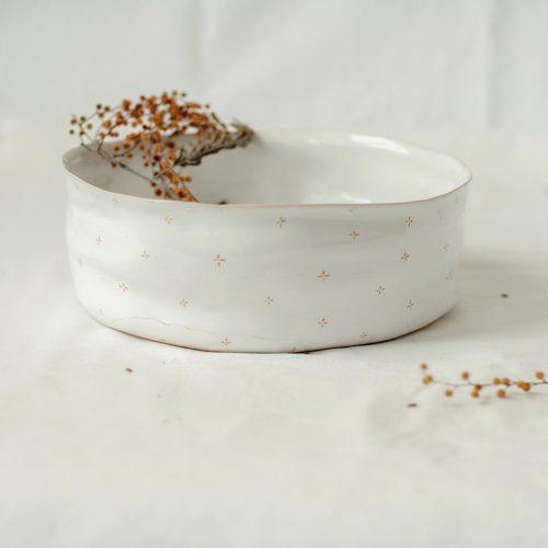 Большие тарелки из коллекции «Цветы с молоком»