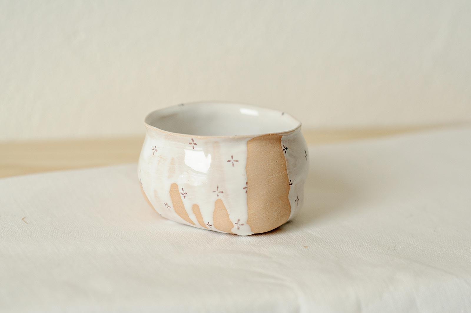 Вид сбоку - Соусник из керамики (Ручная работа)