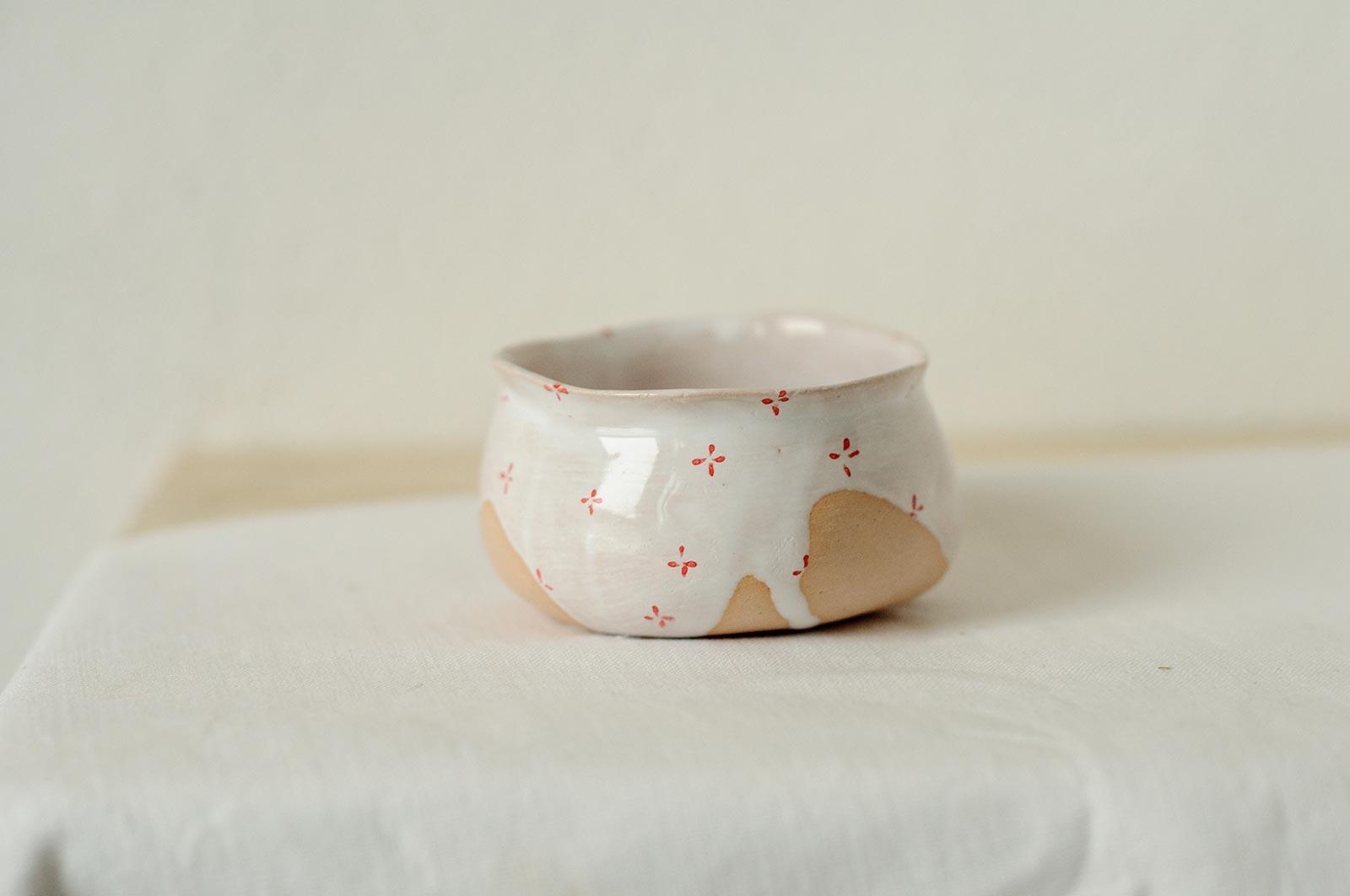Вид сбоку - Декоративный соусник из керамики (Ручная работа)