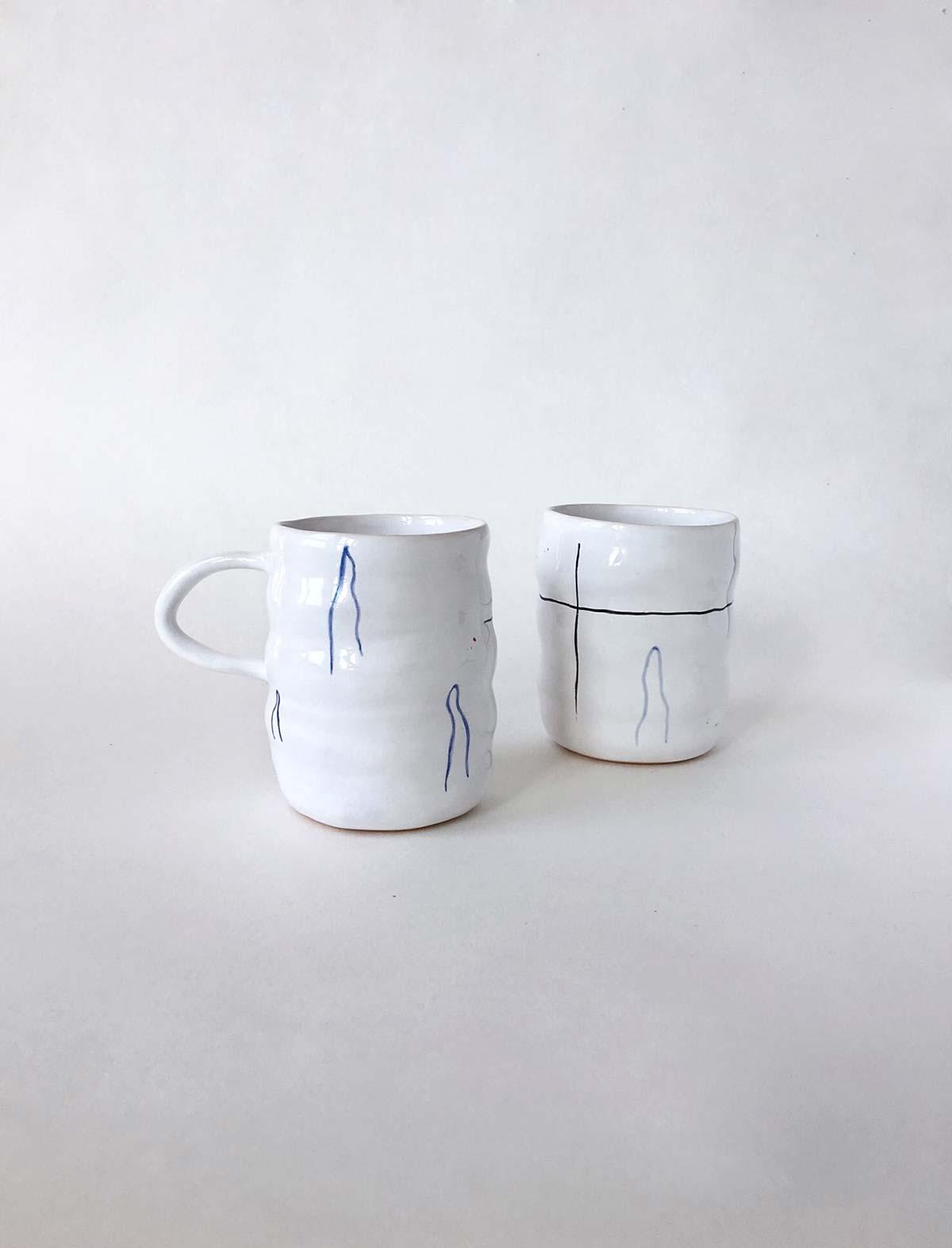 Стакан и чашка «Волны»