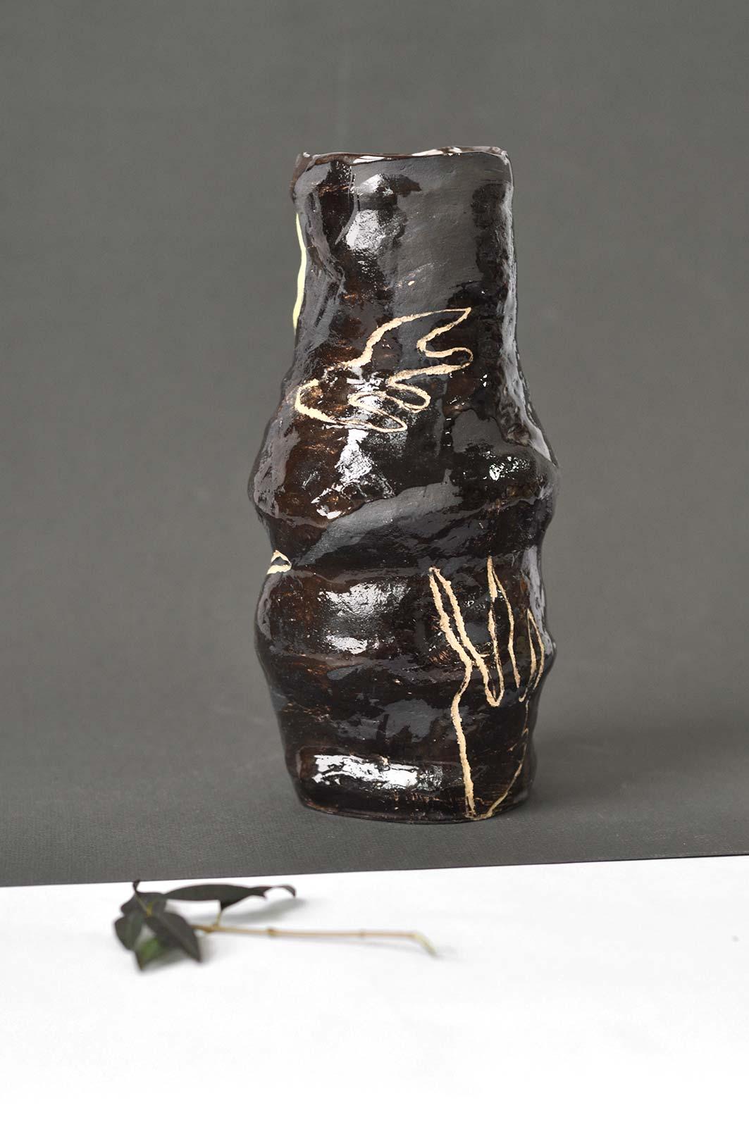 Вид сзади - Декоративная ваза для цветов (Ручная работа)