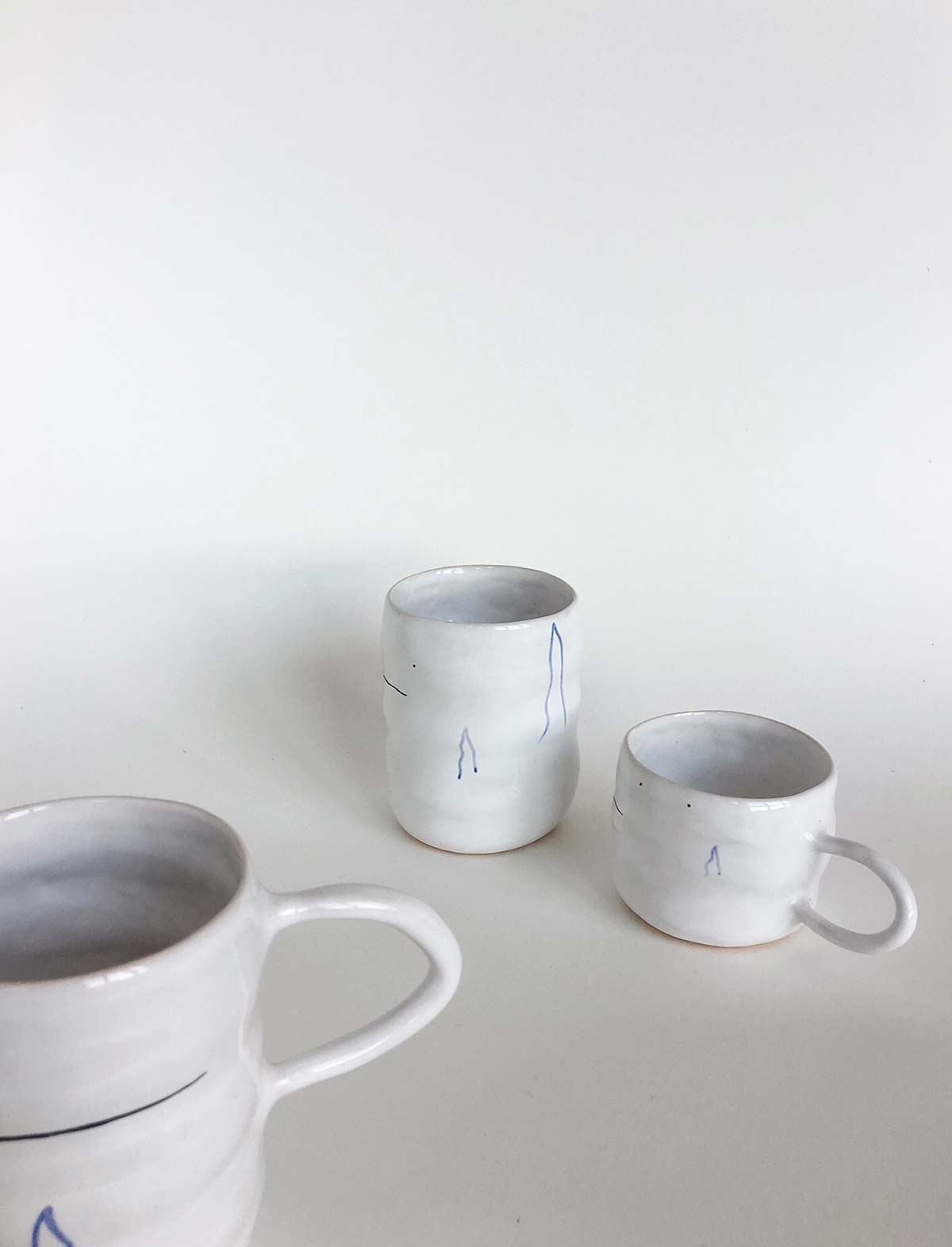 Набор из двух чашек и стакана «Волны»