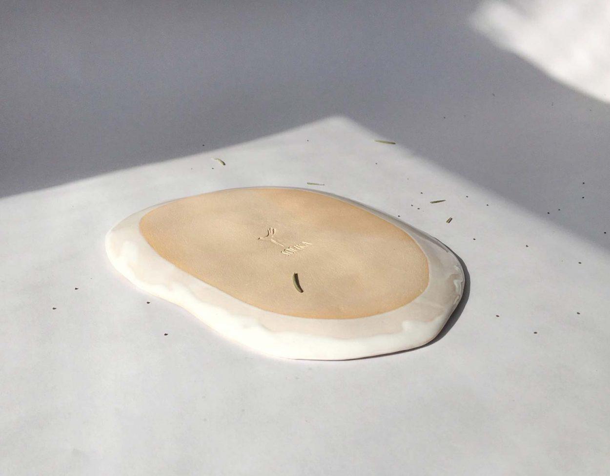 Тарелка с рисунком звезд
