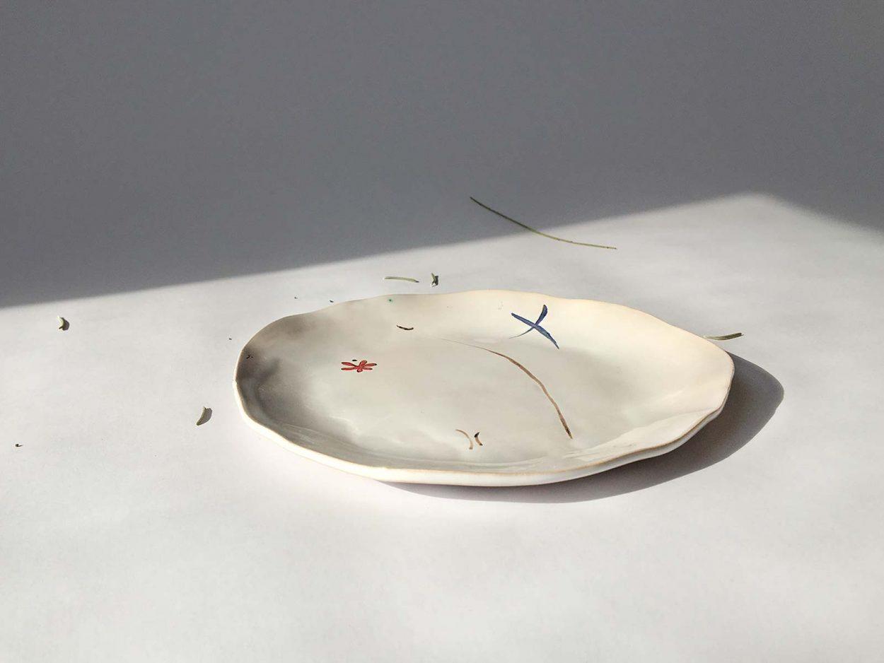 Тарелка из керамики «Композиция № 3»