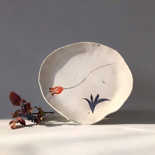 Круглая тарелка «Композиция № 4»