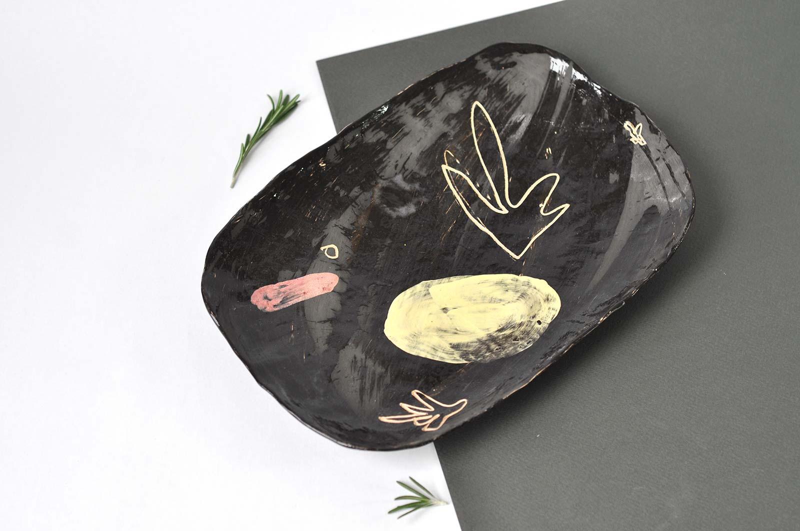 Декоративная тарелка из керамики (Ручная работа)