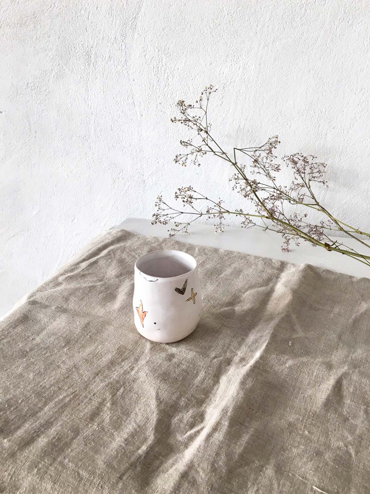 Керамический стакан - вид сбоку