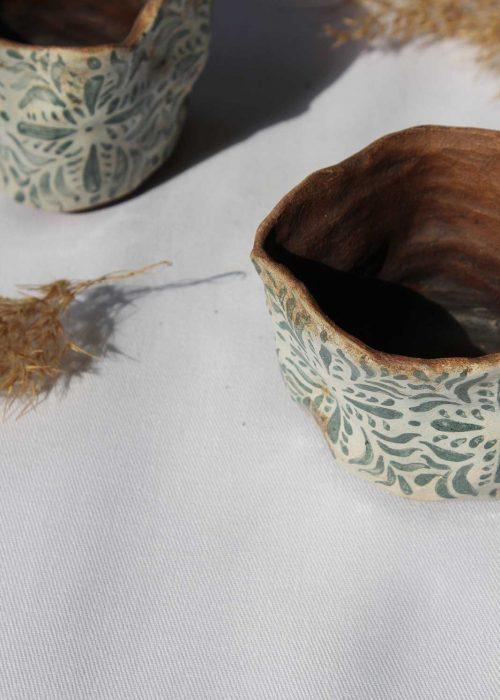 Декоративные горшки для цветов из керамики (Ручная работа)