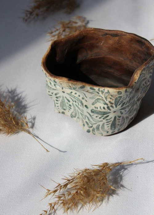 Декоративный горшок для цветов из керамики (Ручная работа)