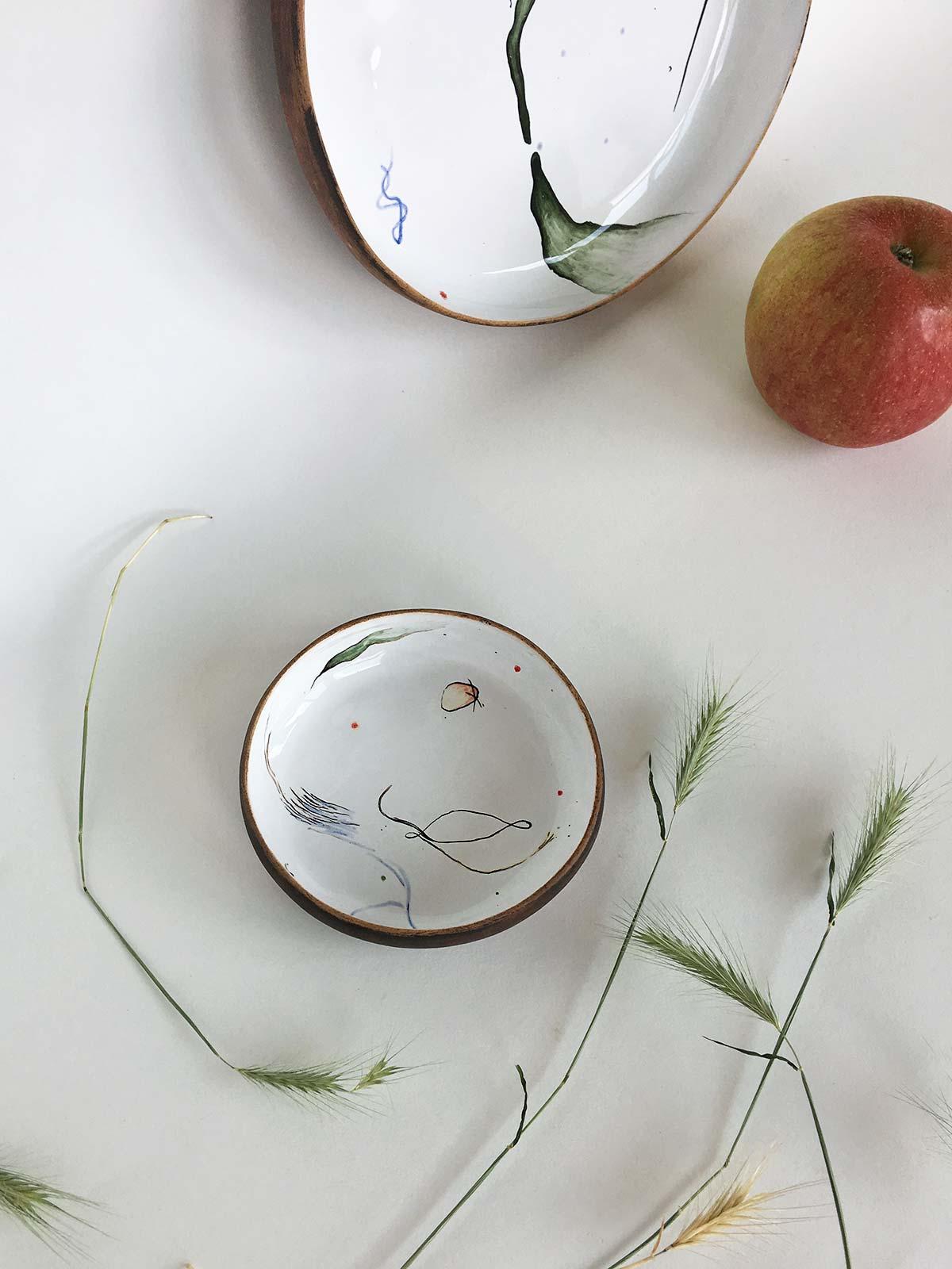 Керамическая тарелка из коллекции «Космичность» №3