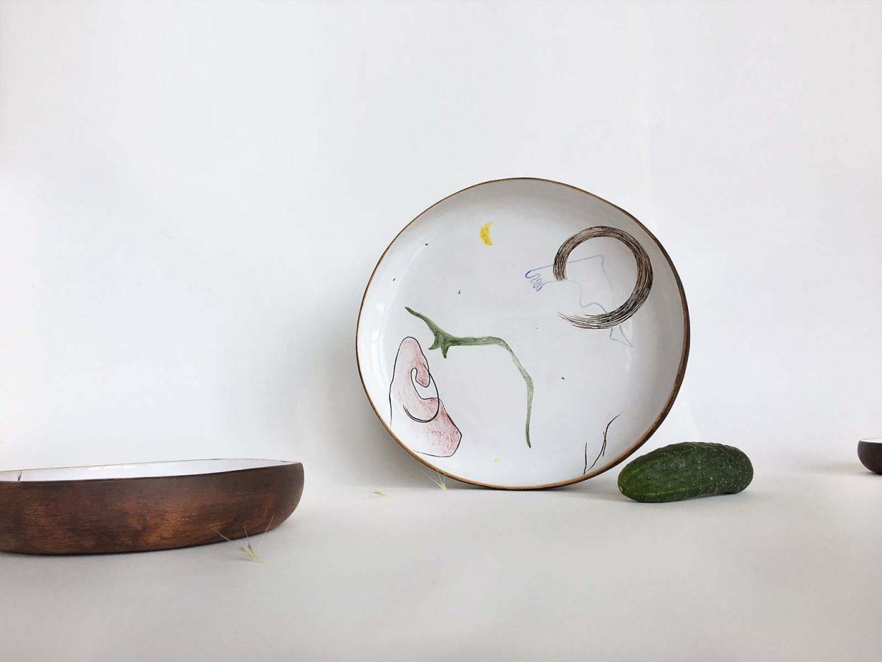 Керамическая тарелка из коллекции «Космичность» №4