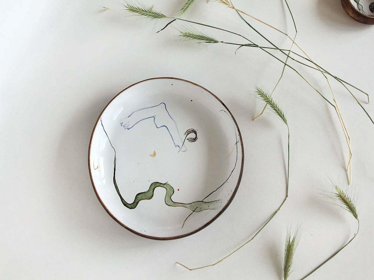Керамическая тарелка из коллекции «Космичность» №1