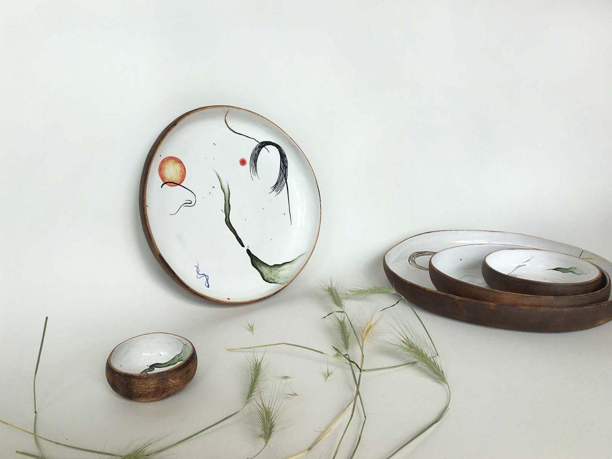 Керамическая тарелка из коллекции «Космичность» №2