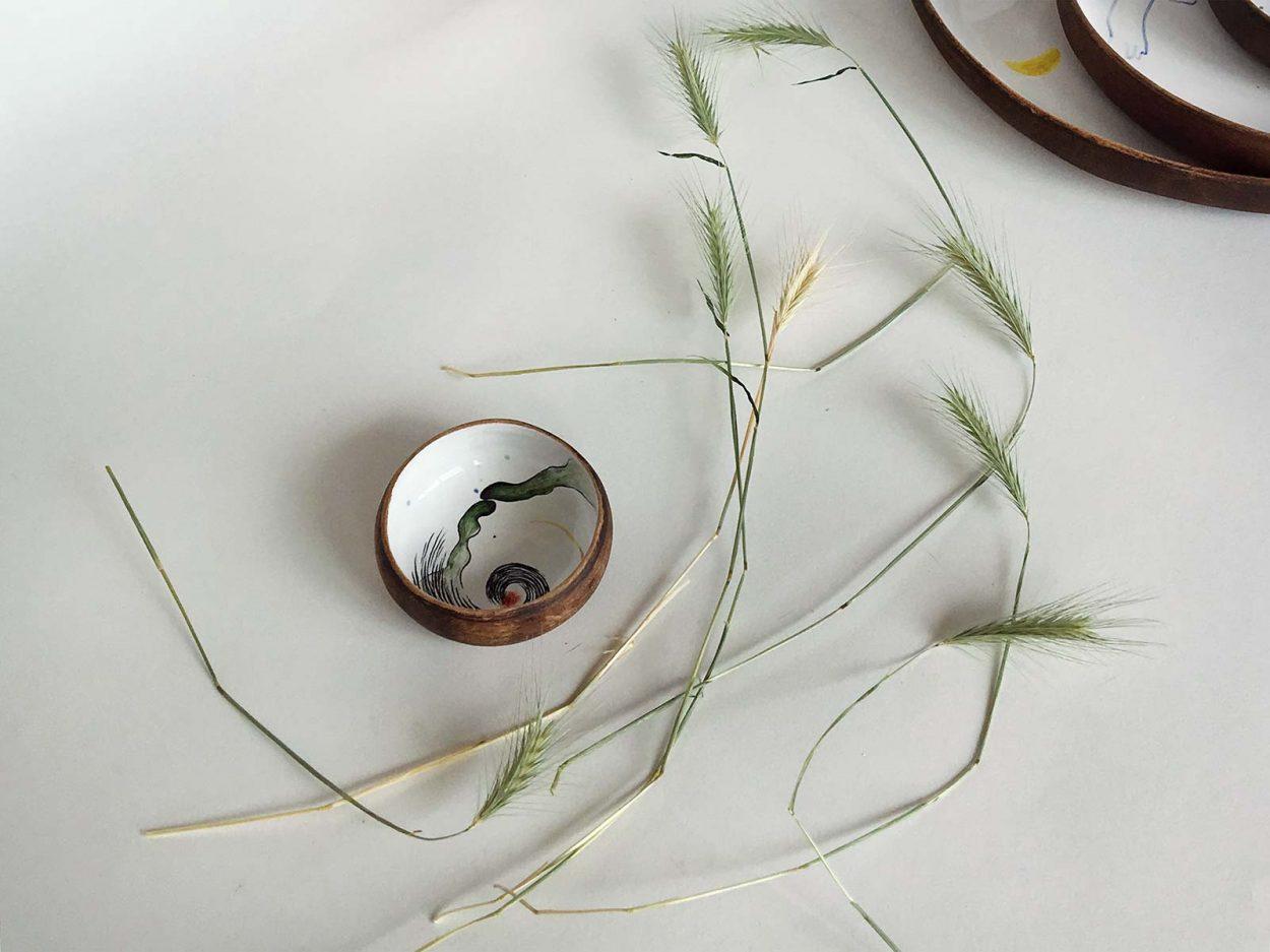Керамическая тарелка из коллекции «Космичность» №5