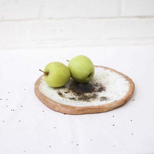 Вид сбоку - Декоративное керамическое блюдо (Ручная работа)