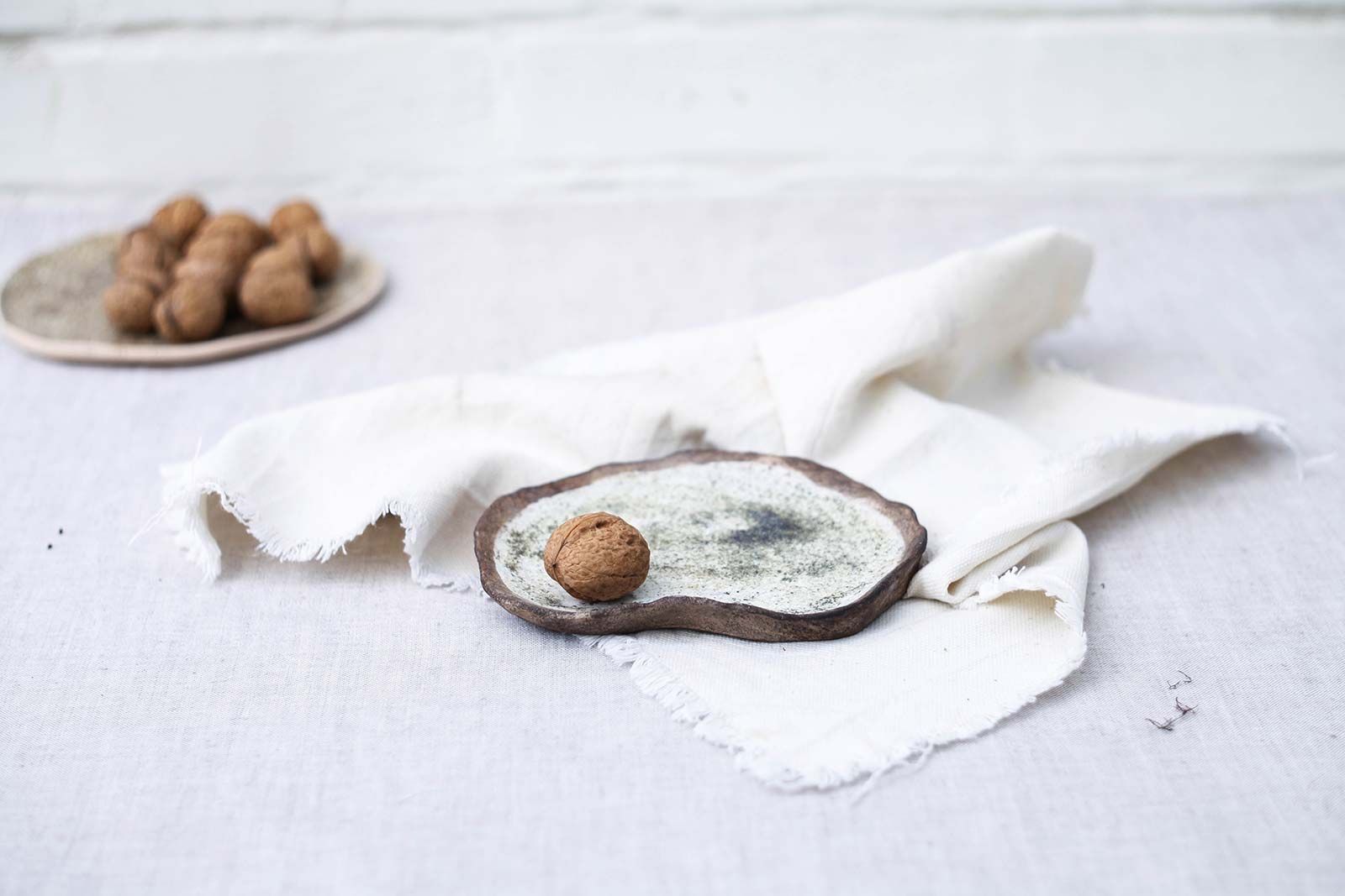 Маленькая декоративная тарелка из керамики (Ручная работа)