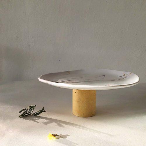 Вид сбоку - Тарелка ручной работы