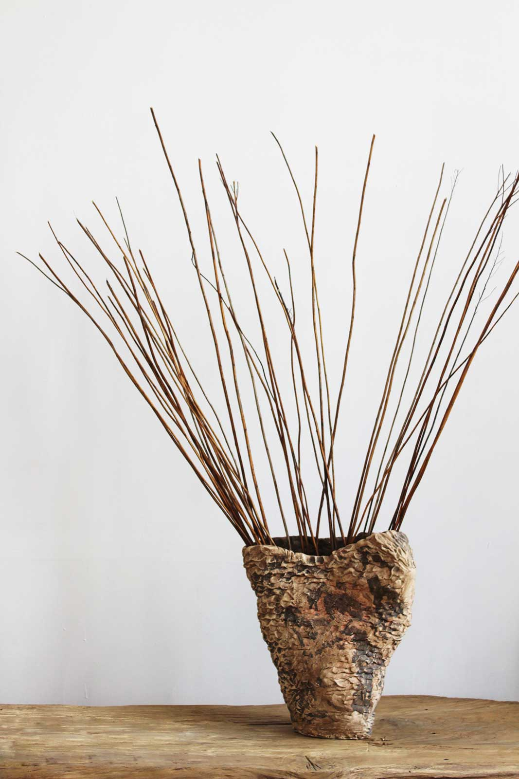 Большая декоративная ваза из керамики (Ручная работа)